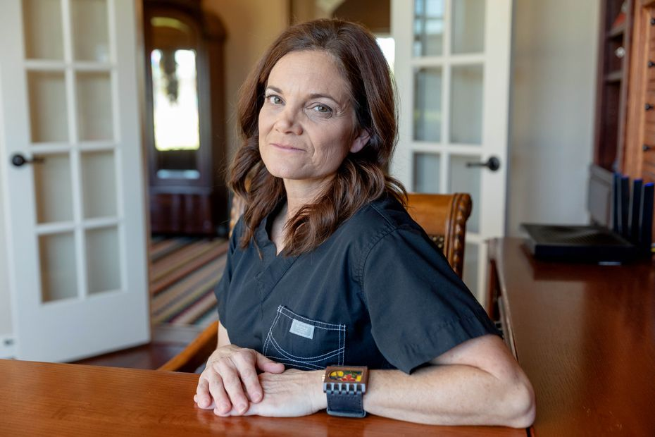 Dr. Laura Anton, pictured at her home, said her soccer coach sexually abused her for years in the 1980s.