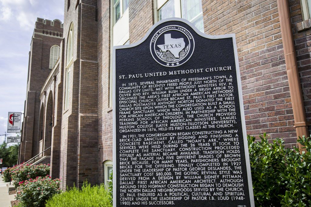 St. Paul United Methodist Church was founded by former slaves.