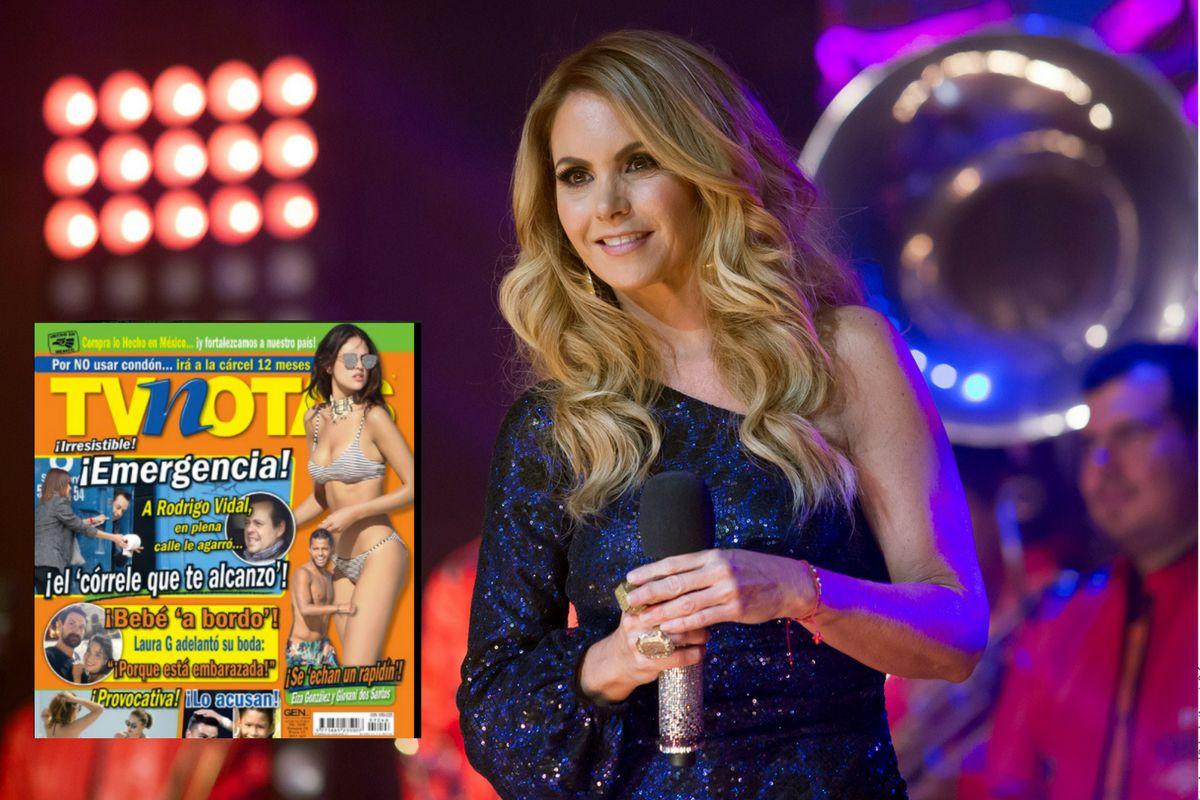 Lucero y otros famosos celebraron la clausura de le revista Tvnotas. TWITTER/ AGENCIA REFORMA