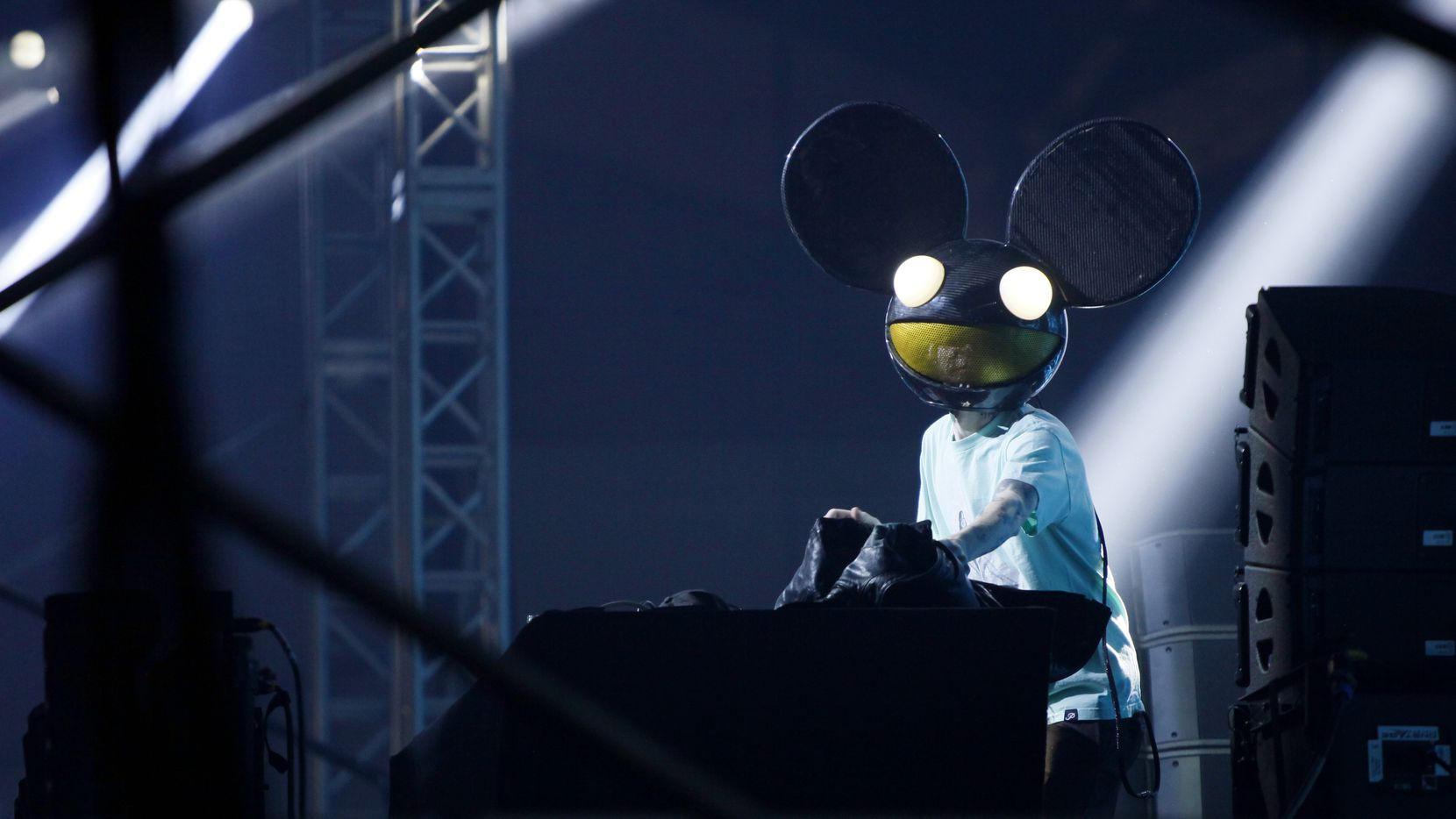 Deadmau5 performs at Lights All Night at Dallas Market Hall in 2016.
