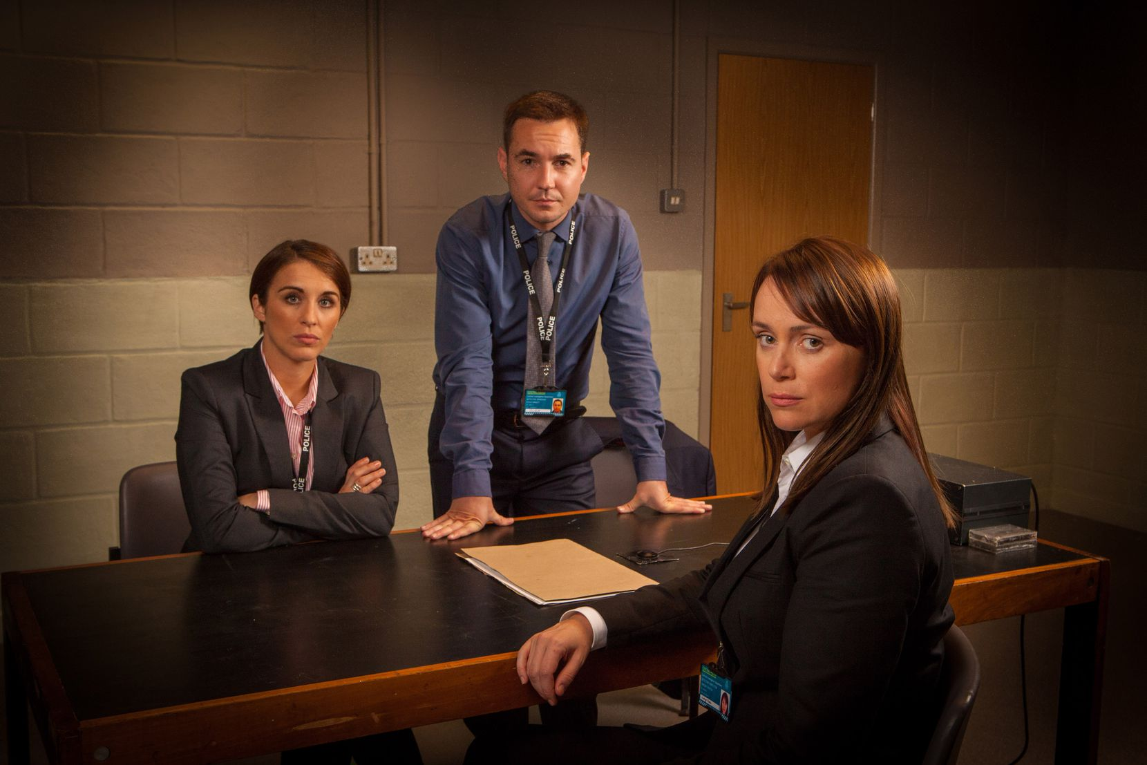 """From left to right, Vicky McClure, Martin Compston and Keeley Hawes star in Season 2 of the British series """"Line of Duty."""""""