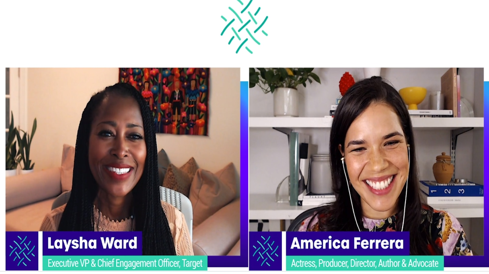 At Texas Women's Foundation's virtual fundraiser in late September, award-winning actress and bestselling author America Ferrera and Laysha Ward, executive vice president and chief external engagement officer for retail giant Target, talked about sisterhood and superpowers.