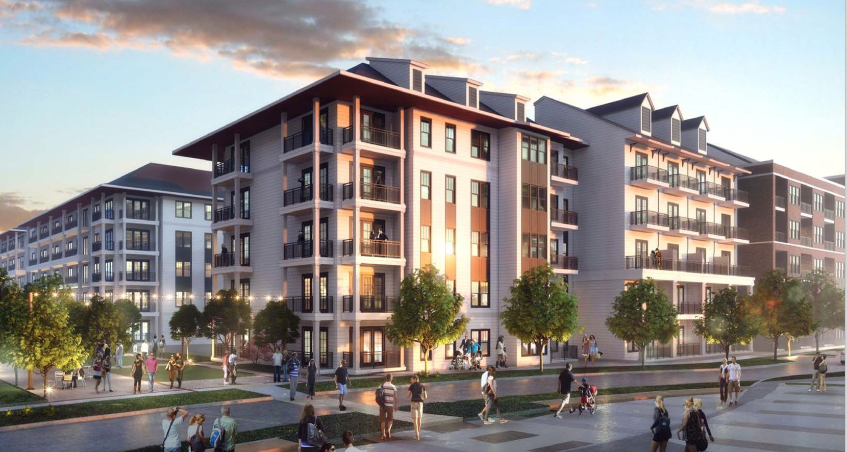 The Trinity apartments on Singleton Boulevard will be the third rental community in the $300 million Trinity Green project.