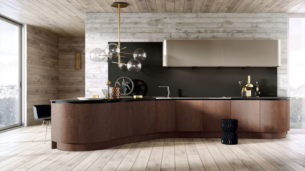 In its new Dallas showroom, Cantoni showcases contemporary designs such as Domina Collection by Aster Cucine.
