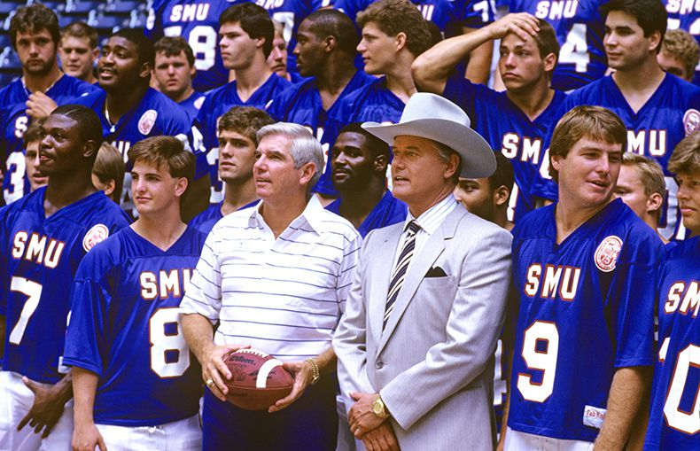 """Watchdog Dave Lieber ranks the top 10 Texas scandals of the past century to see where the current electricity debacle fits in. Here, Larry Hagman, who portrayed J.R. Ewing in the TV show """"Dallas,"""" was with the SMU football team — one year before the NCAA punished the program with the """"death penalty."""""""