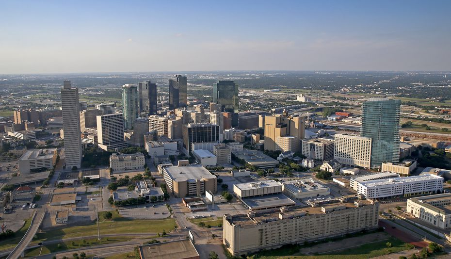 Fort Worth, shown in a 2016 aerial view, will continue to grow under the city's long-range plans.