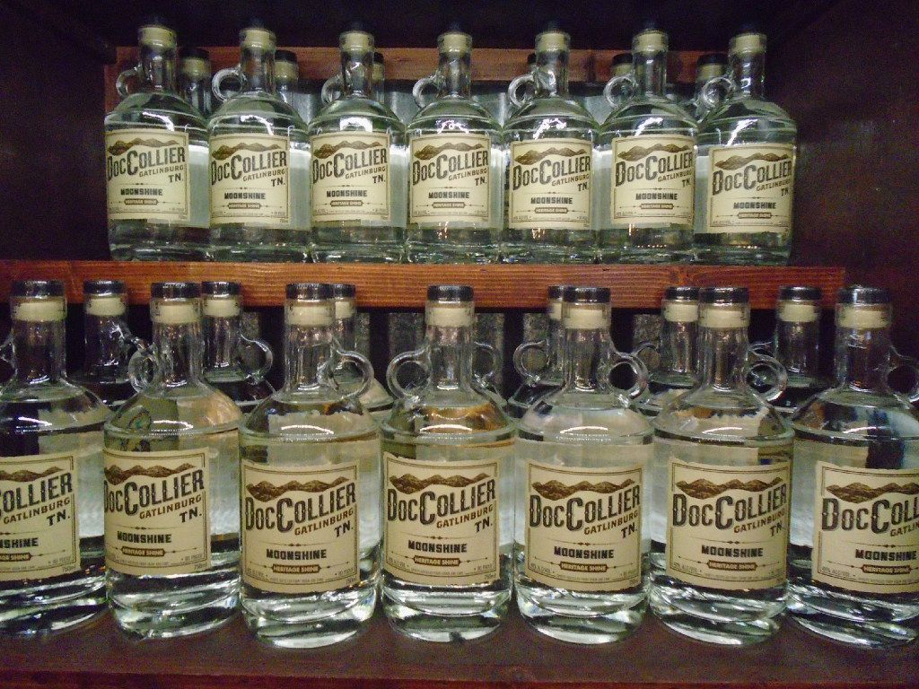 Doc Collier Moonshine in Gatlinburg produces sassy flavors like Root Beer Float and cinnamon-powered Firecracker.