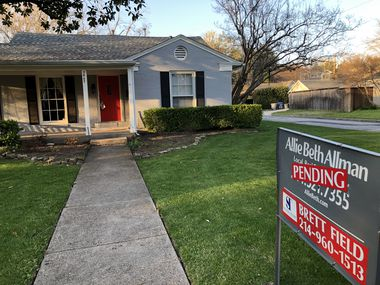 Dallas-area home prices were up 2.8% in March from a year ago.