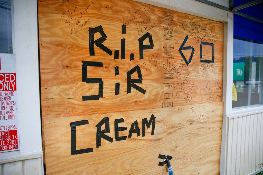 A memorial for Sir Cream, who authorities say they have not yet identified