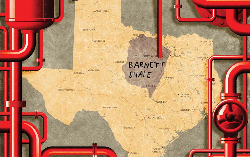 The first Barnett Shale gas well, the one that ignited the revolution, remains standing as the suburbs encroach