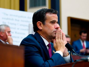 President Donald Trump on Sunday announced Rep. John Ratcliffe, R-Heath, as his pick to be his next Director of National Intelligence. (Photo by ANDREW CABALLERO-REYNOLDS / AFP)ANDREW CABALLERO-REYNOLDS/AFP/Getty Images