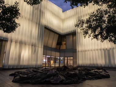 The exterior of the Nancy and Rich Kinder Building of the MFAH appears on Tuesday.