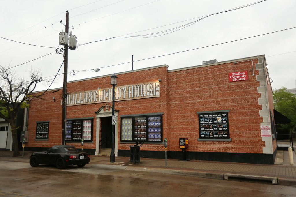 The exterior of the Dallas Comedy House — for now.
