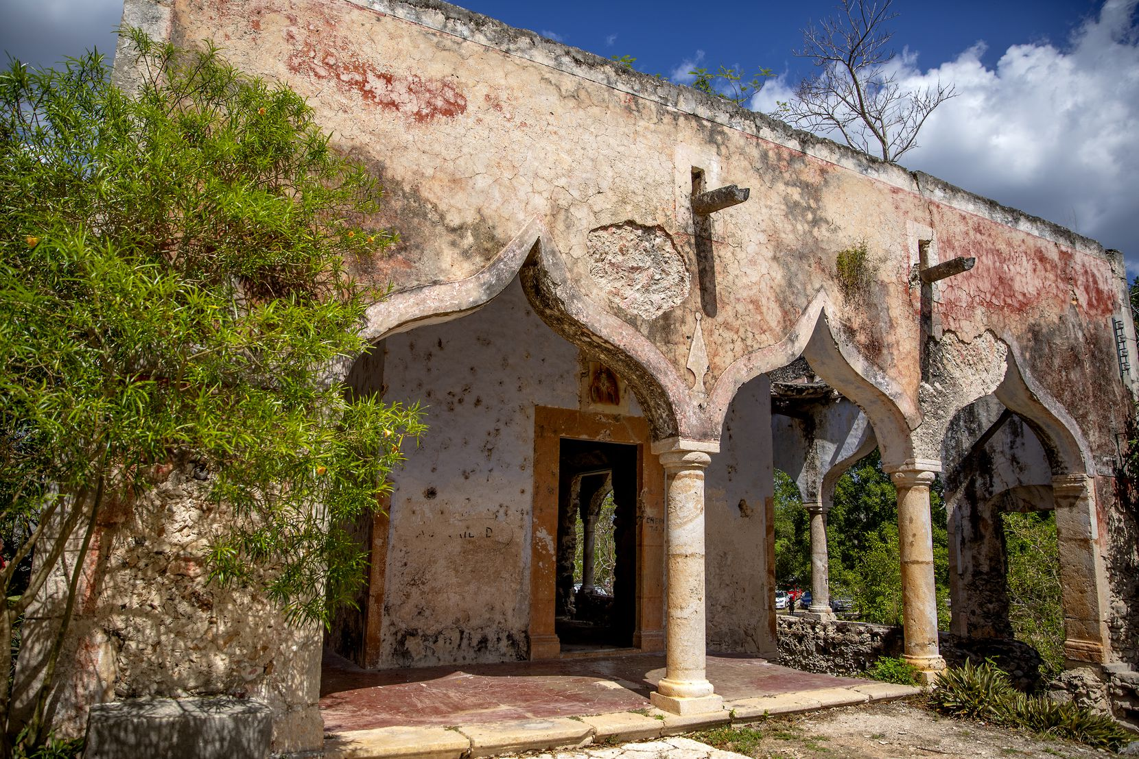The Cenote Hacienda Mucuyche includes a tour through what remains of a historic hacienda.