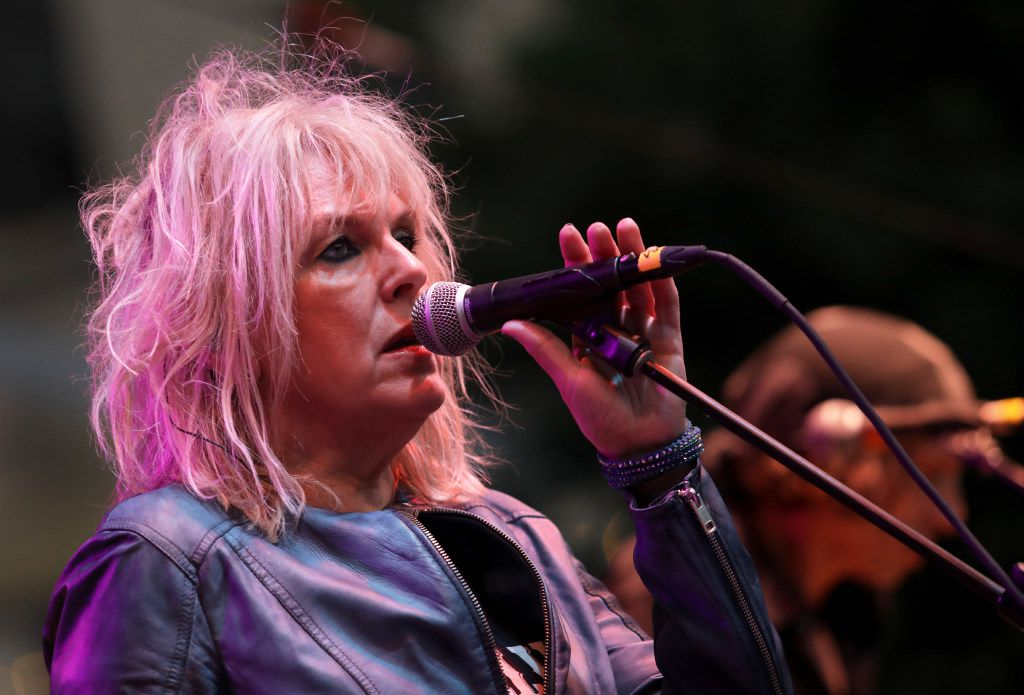 Lucinda Williams performs during the Old97's County Fair at Main Street Garden in Dallas, TX, on Apr. 8, 2017. (Jason Janik/Special Contributor)