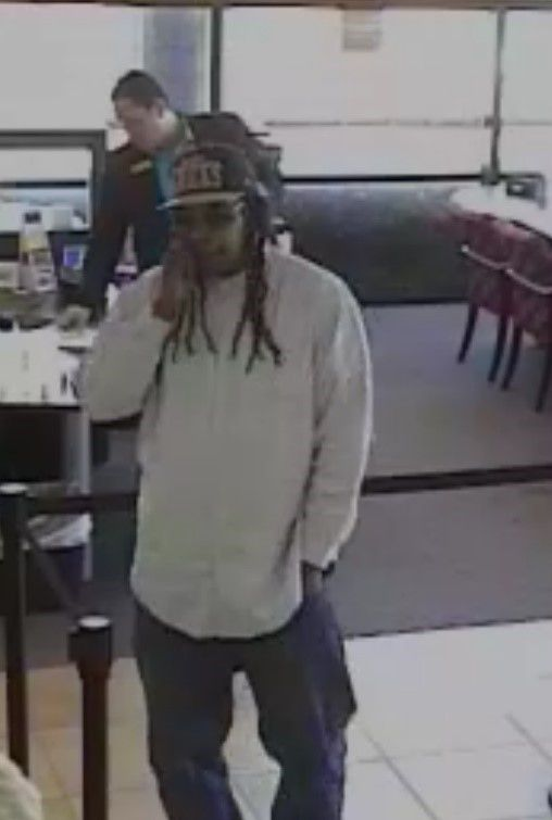 Denton police are looking for a man who robbed a Wells Fargo Bank on May 31 and a Check N Go convenience store June 12.