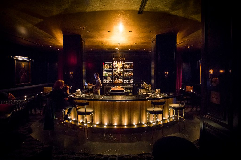 While diners can certainly drink wine in the main dining room, the French Room's bar (pictured here) is also a sexy and fun spot to imbibe.