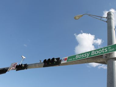 Bossy Boots Drive in Allen, located off North Watters Road, is named for one of the previous land owners of the Twin Creeks commercial and real estate developments. (Francesca D'Annunzio/Special Contributor)