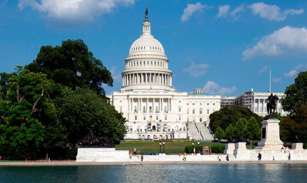 This file photo taken on Aug. 8, 2019, shows the U.S. Capitol in Washington, D.C..