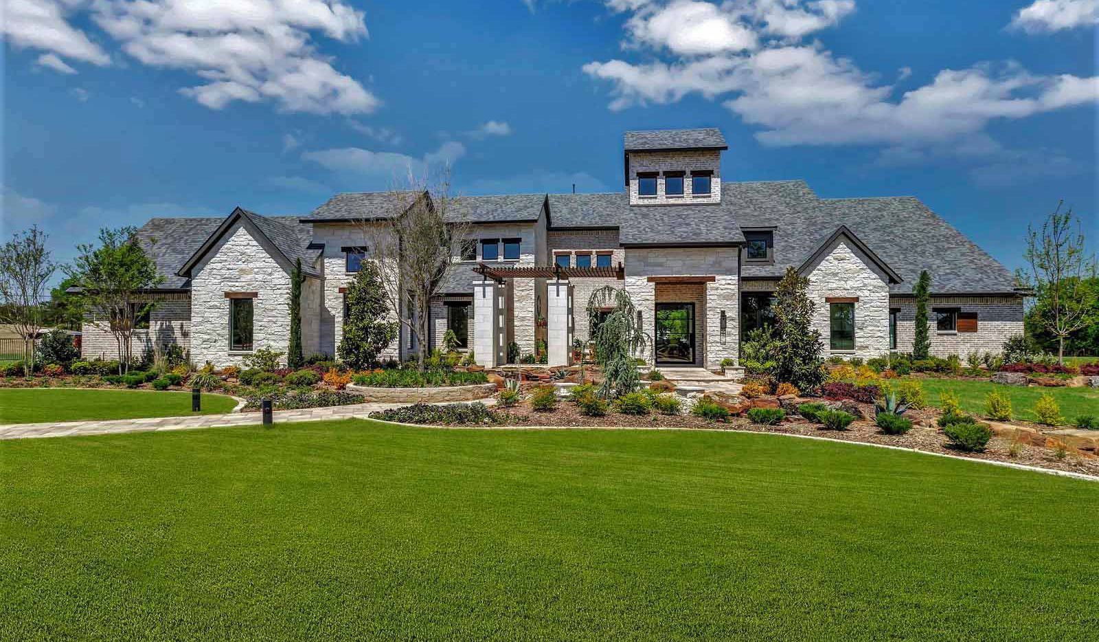 J. Anthony Custom Homes built this amenity-filled home, including a main house and a guest house, on 2 acres in Lucas, Texas.