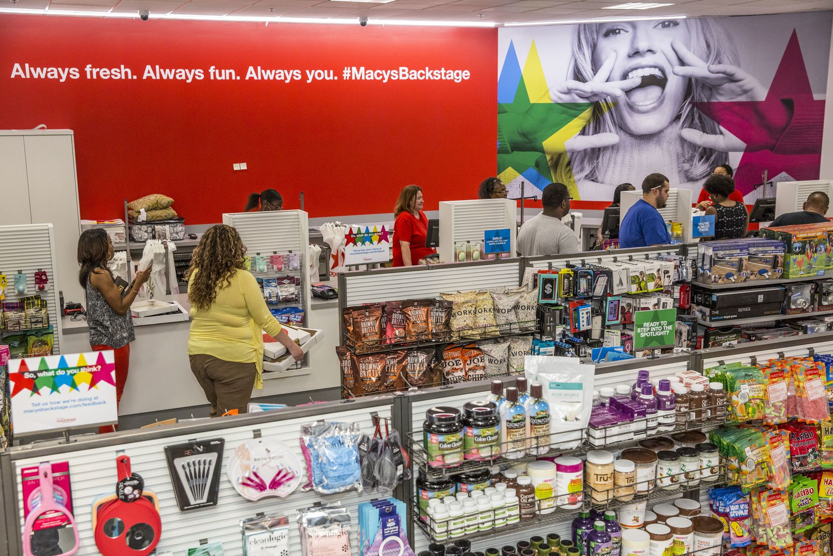 The grand opening of Macy's Backstage at Town East Mall will be celebrated with gift card giveaways and special events at the store throughout the day on Saturday, July 23rd. (Shannon Faulk/AP Images for Macy's)