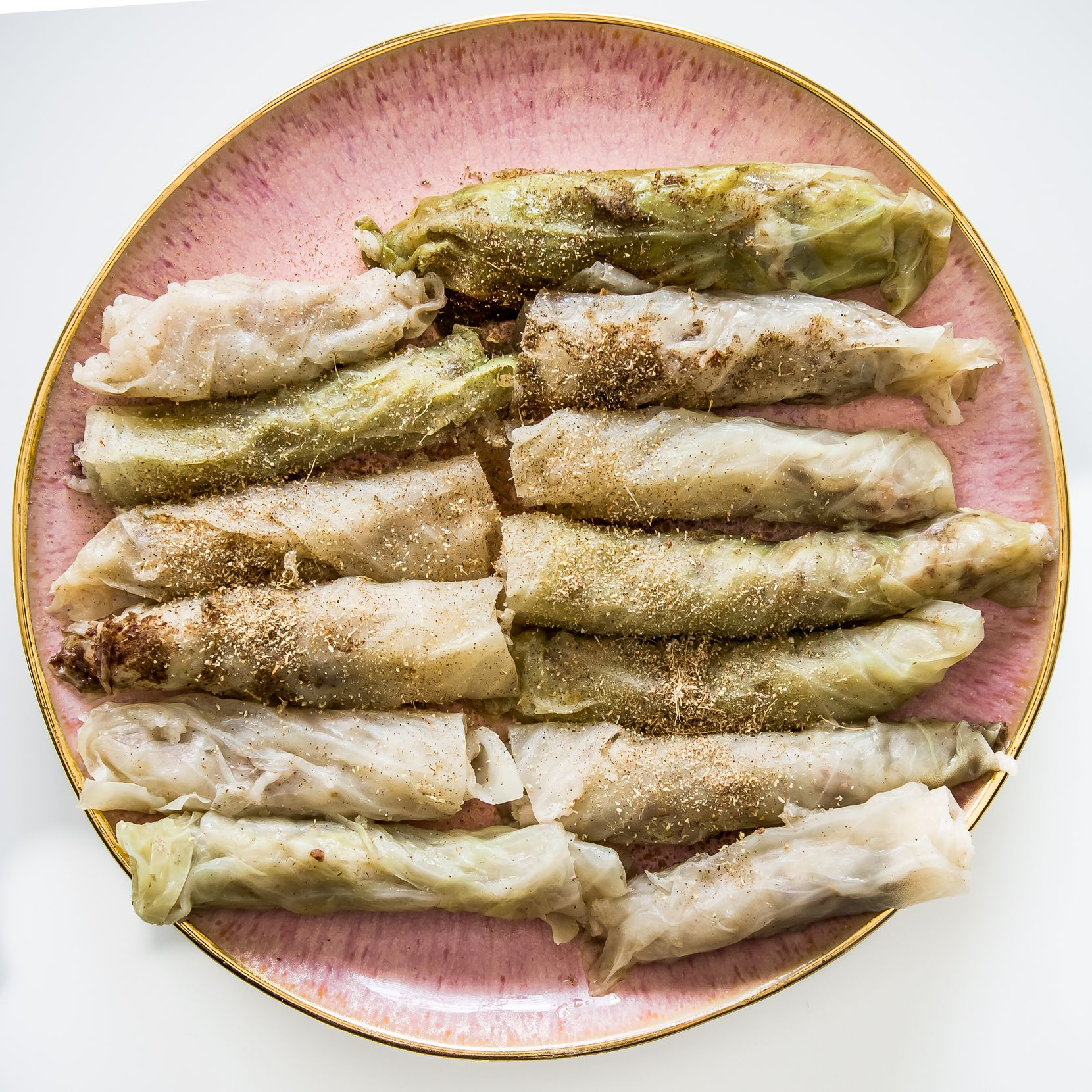 Malfouf (Cabbage Rolls) are a common dish in Jordan.