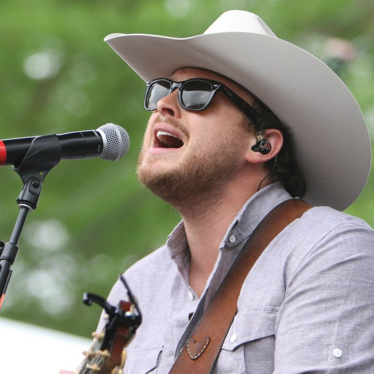 Josh Abbott of the Josh Abbott Band performs at the Academy of Country Music's Party for a Cause music festival at Globe Life Park.