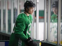 Dallas Stars center Ty Dellandrea  takes the ice during a training camp practice at the Comerica Center on Wednesday, Jan. 6, 2021, in Frisco.
