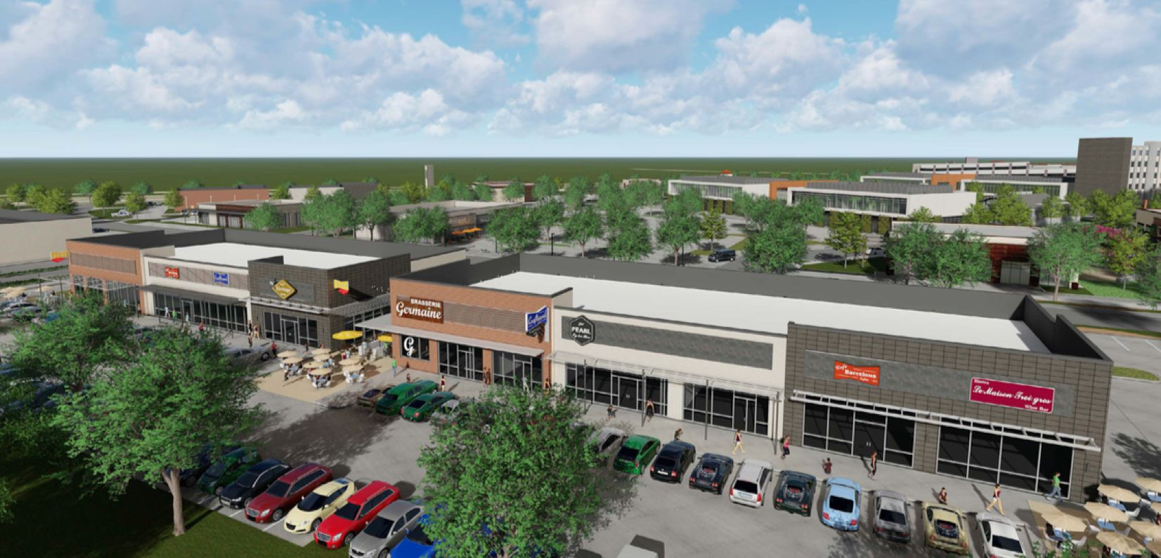 The Stacy Green mixed-use project is at the southwest corner of U.S. 75 and Stacy Road.