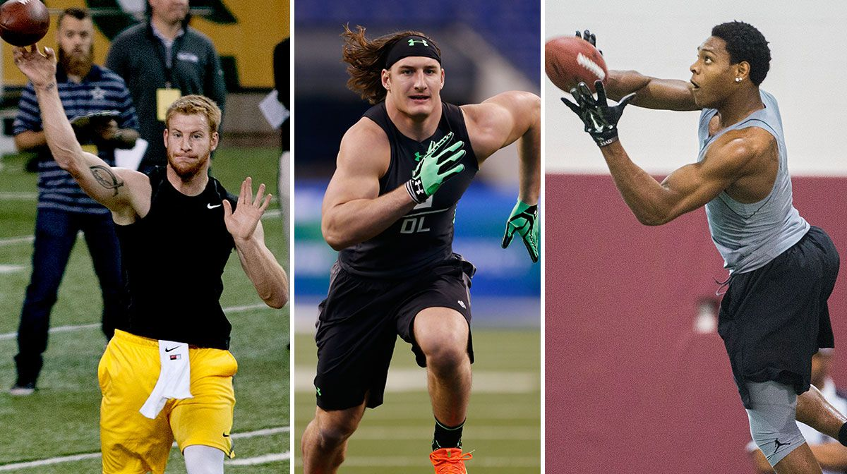 From left: Carson Wentz, Joey Bosa and Jalen Ramsey
