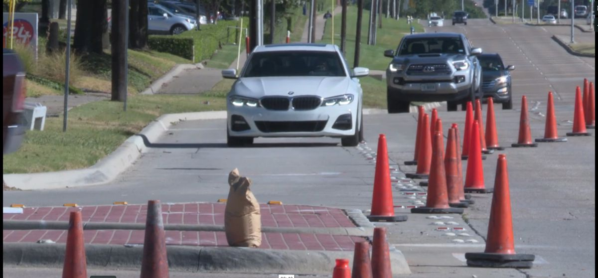 Pavement markings improvement projects are underway in Richardson.