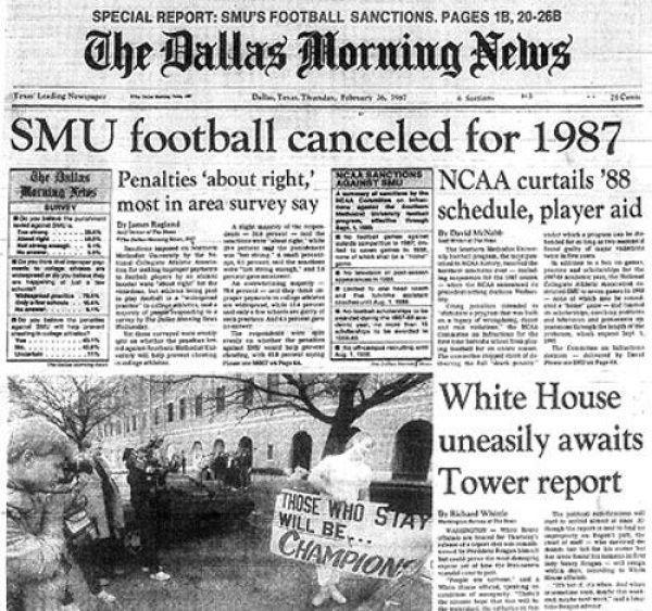 "#10 SMU football program gets the NCAA's ""death penalty."""