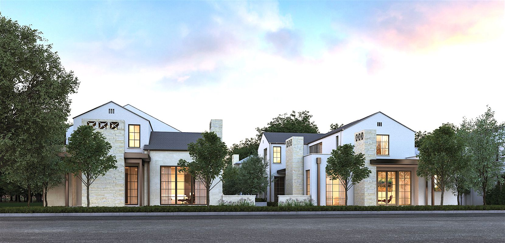 Courtyard homes in the community will be built in groups of four.