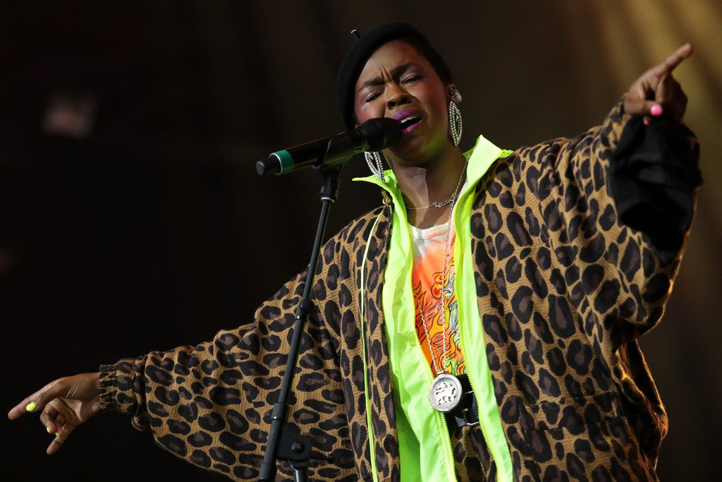 Lauryn Hill performs during Kaaboo Texas at AT&T Stadium in Arlington on May 10, 2019.