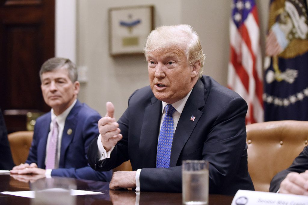President Donald Trump's push to impose tariffs on tens of billions of dollars in imports is undermining some of his other major policy initiatives. GOP allies like Rep. Jeb Hensarling of Dallas had warned him of just that possibility.