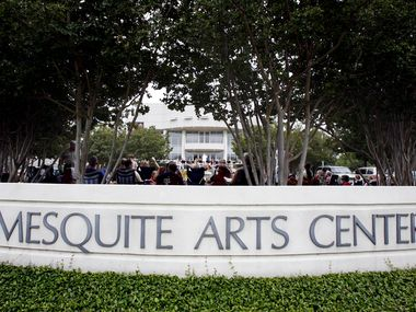 The Mesquite Arts Center, shown here in a file photo, is currently hosting an exhibition of art from local artists. Instead of a reception, a video will be unveiled Thursday.