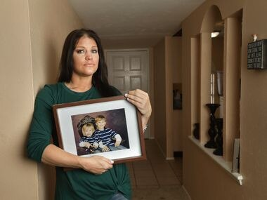 """Elizabeth """"Bethy"""" Schonfeld poses for a photograph at her home in Plano on Jul. 12, 2020."""
