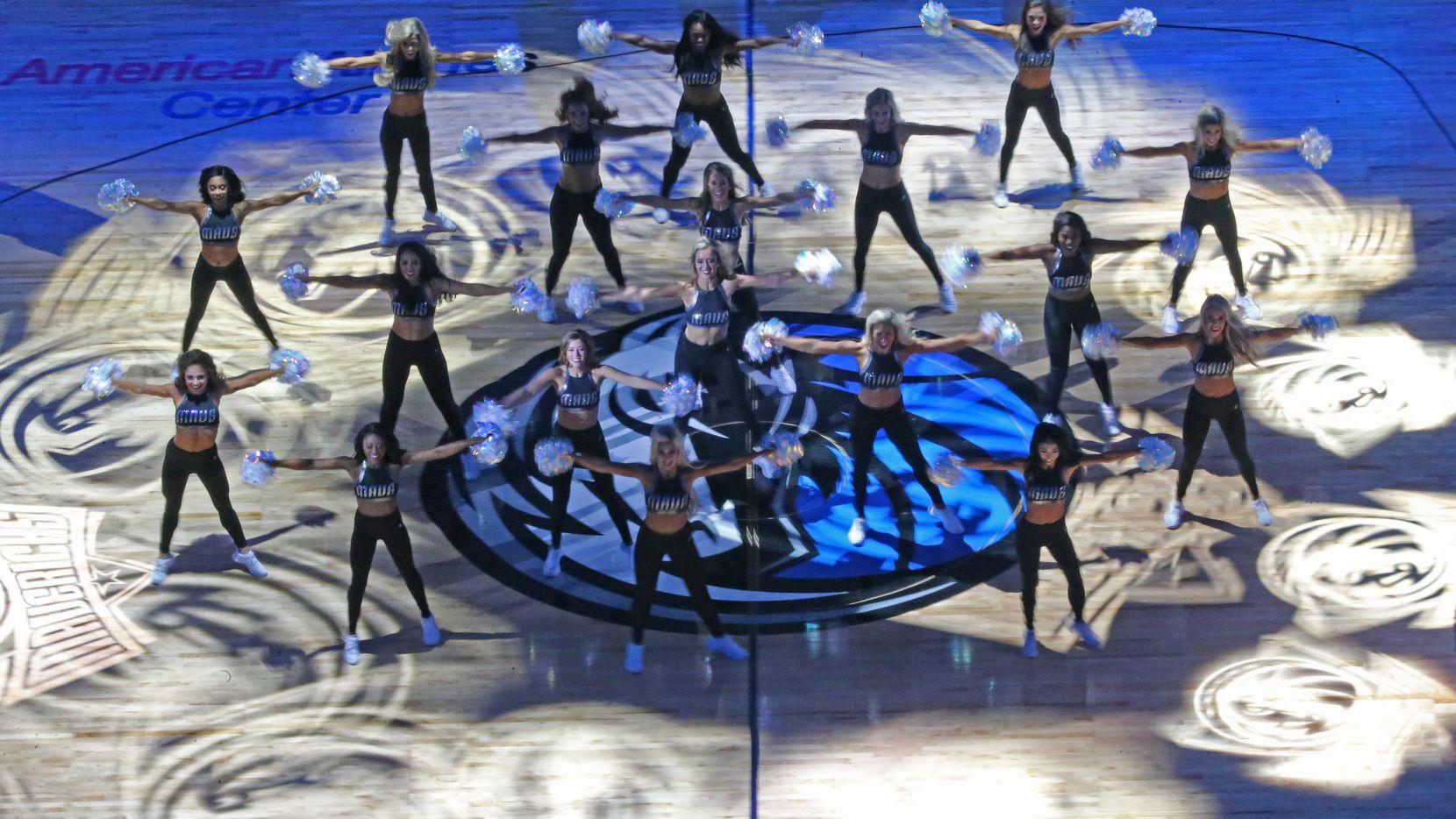 The Dallas Mavericks Dancers perform before the Orlando Magic vs. the Dallas Mavericks NBA basketball game at the American Airlines Center in Dallas on Tuesday, January 9, 2018. (Louis DeLuca/The Dallas Morning News)