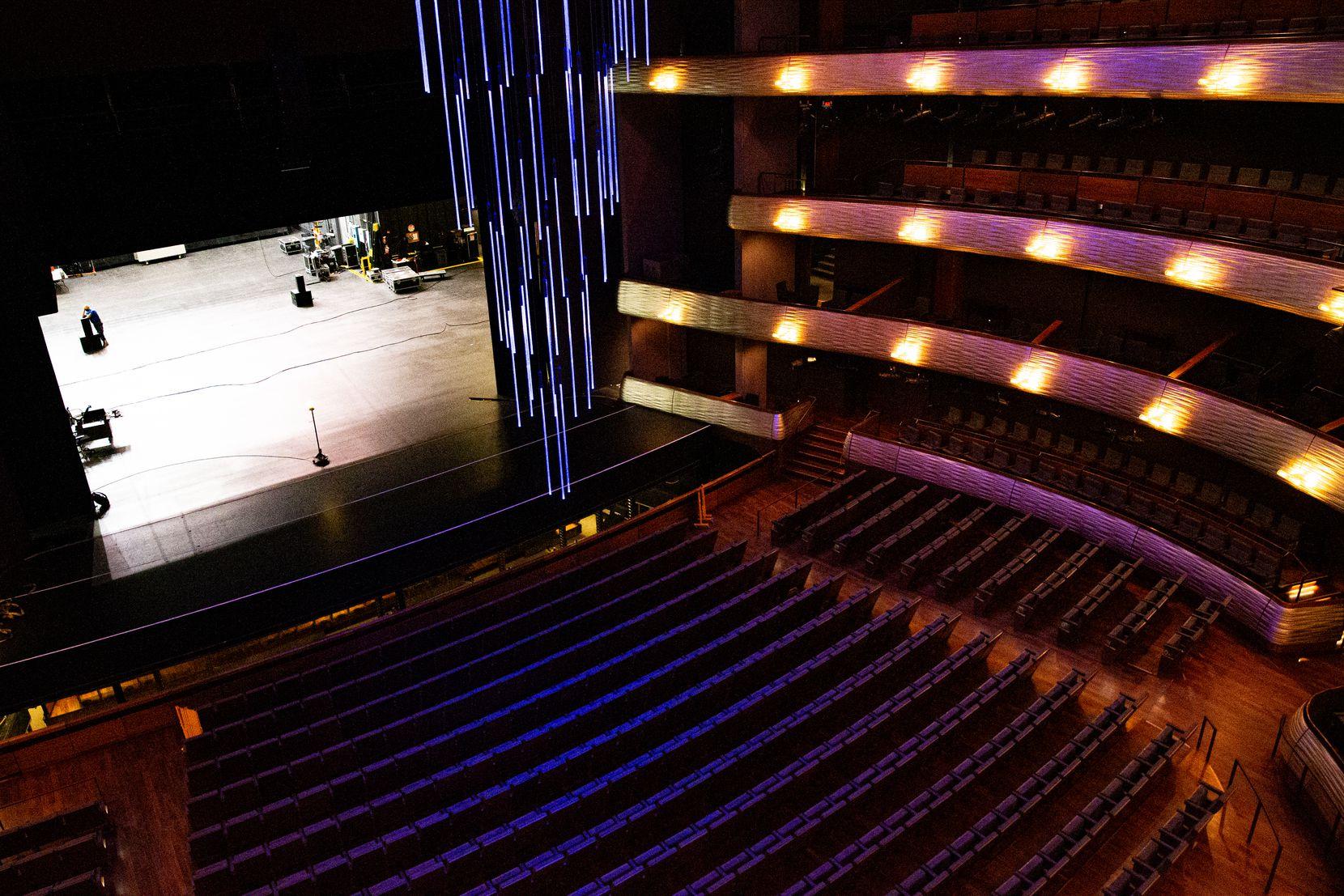 The empty Winspear Opera House photographed in Dallas on Feb. 4, 2021. (Juan Figueroa/ The Dallas Morning News)