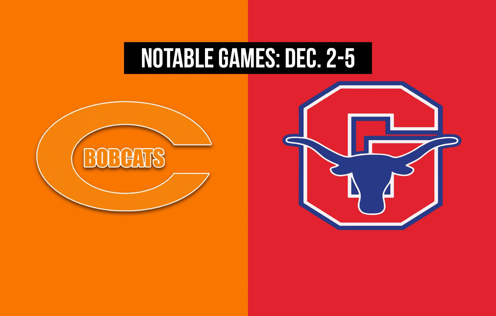 Notable games for the week of Dec. 2-5 of the 2020 season: Celina vs. Graham.