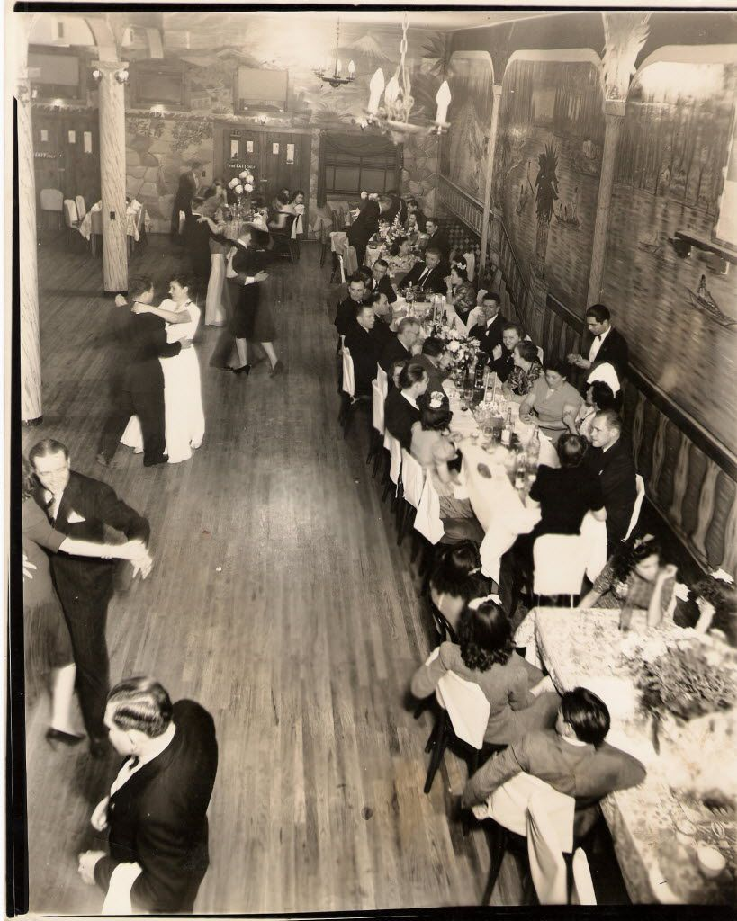 The El Fenix ballroom, next door to El Fenix Cafe, in 1938, was a popular social spot in Dallas.