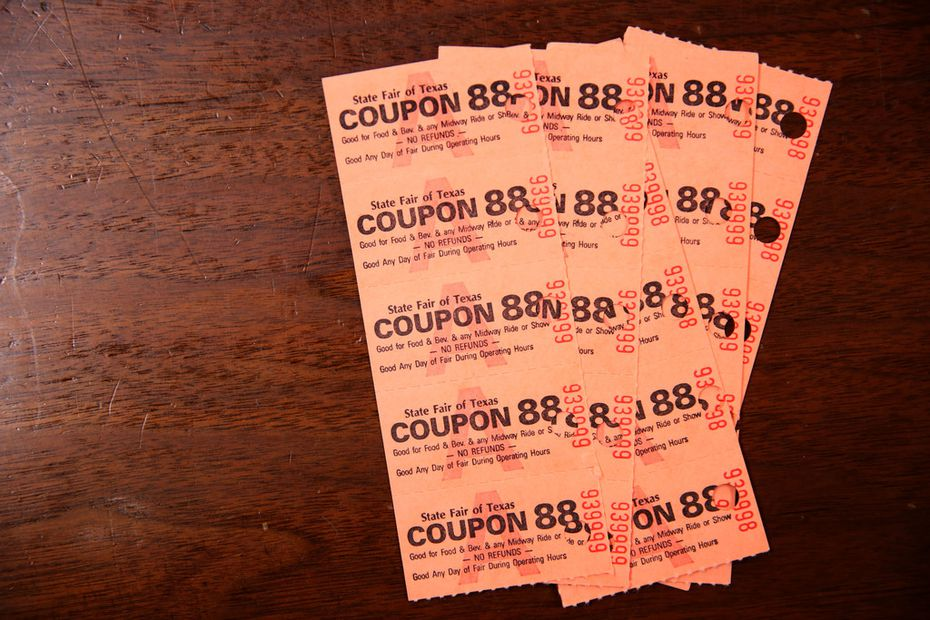 Can you use these State Fair of Texas coupons from 1988 at the 2021 fair? Yes, and each 50-cent coupon is now worth $1.