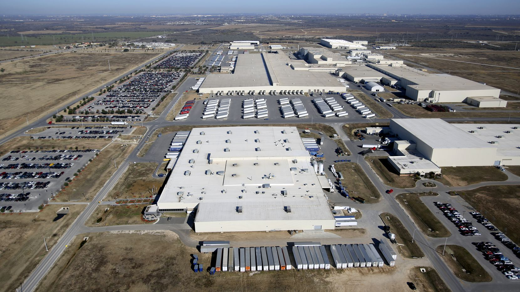 Toyota's truck plant in south Bexar County builds Tundra and Tacoma pickup trucks.