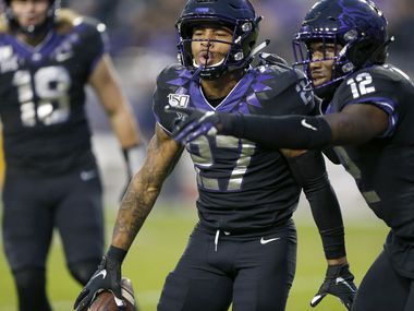 With Jeff Gladney (right) gone, Ar'Darius Washington (27) will be one of the featured players on the TCU defense.