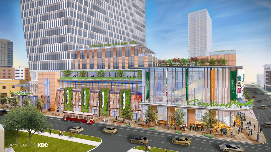 The McKinney Avenue tower that will house a new Central Market in Uptown Dallas.