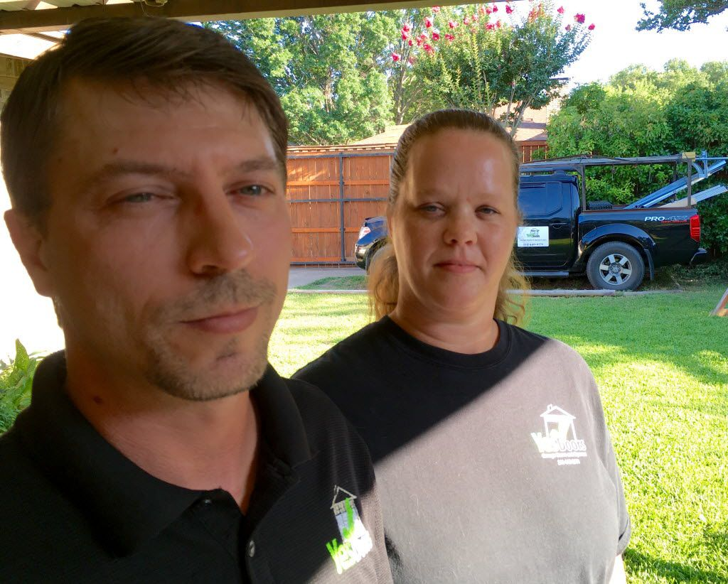 Benjamin and Tonya Ham own Yes Doors of Garland. But another company keeps using a name similar to theirs, causing confusion among customers. GDS or Garage Door Services of Carrollton uses hundreds of names.
