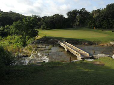 Hole 10 green, Barton Creek Fazio Canyons golf course in Austin, Texas.