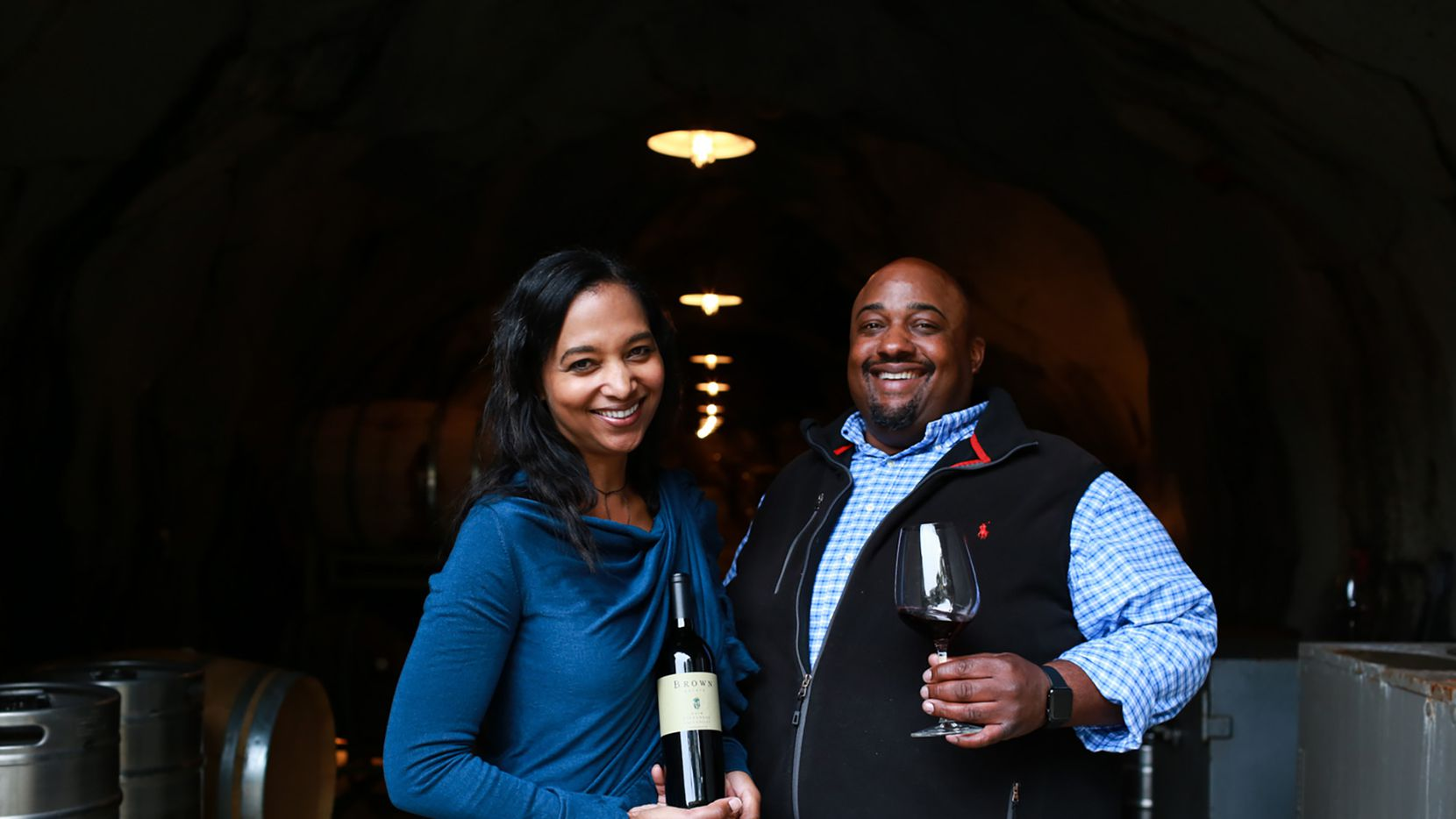 Coral and David Brown of Brown Estate wines in Napa Valley