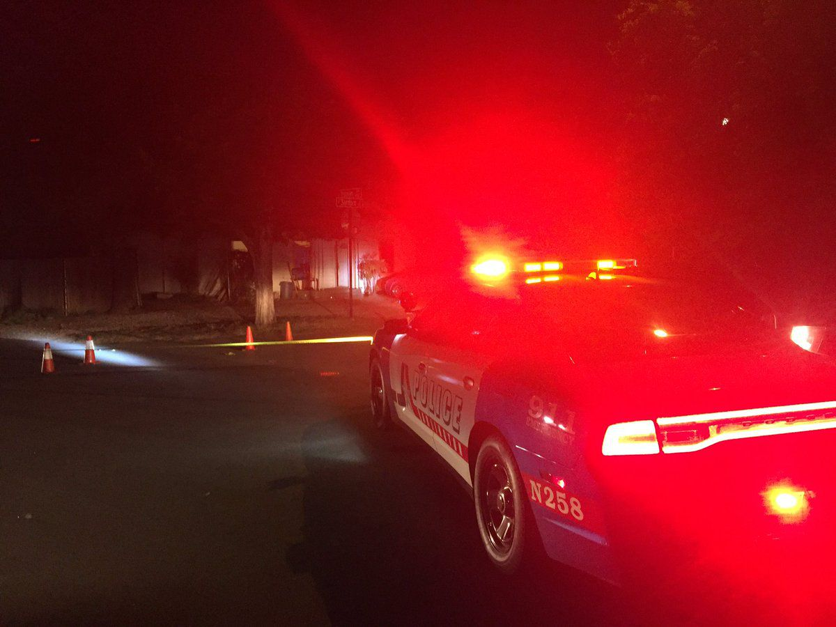 KXAS-TV (NBC5) reported about two dozen shots were fired into the Arlington home early Monday.