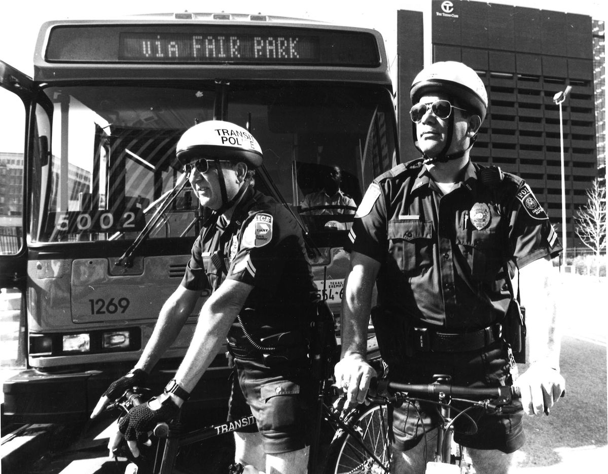 DART transit Police Corporals John Salinas and Ron L. Wilder in 1995.